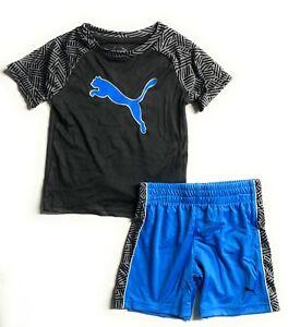 PUMA Baby Boys 2-Pc. Logo-Print T-Shirt & Shorts Set