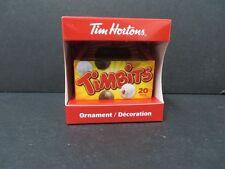 Tim Horton's Ornament 2014 Timbit box replica NIB