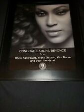 Beyonce Woman Of The Year Frank The Plumber Rare Original Promo Poster Ad Framed