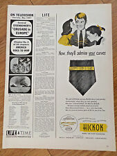 1943 Hickok Jewelry Ad  Tie Bar   Now They'll Admire Your Curves