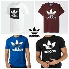 100% Authentic Adidas Men's Trefoil Big Logo T-Shirt 100% Cotton Multicolored