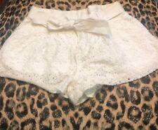 Polo Ralph Lauren Girls Size 6 Cream Lace Shorts Kids EUC Designer