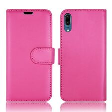 Plain Pink Leather Wallet Book Protect Phone Case for Apple iPhone 4 5 6 7 8 & X Huawei Huawei Y635