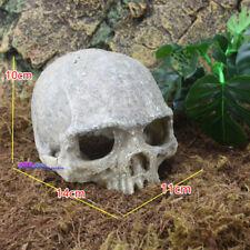 New listing Resin Skull Aquarium Decoration Terrarium Reptile Cave Fish Tank Ornaments Nu