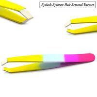 Professional Eyebrow Tweezers Stainless Steel Tweezer Hair Beauty Slanted Tools