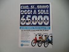 advertising Pubblicità 1984 PIAGGIO CIAO SI BRAVO 50