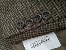Joseph & Feiss 50R Fleck Green Brown Blue Tooth Check Tweed Blazer Jacket Coat