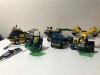 Lego Res-Q Squad Vehicles Lot of 5 w/ Minifigures