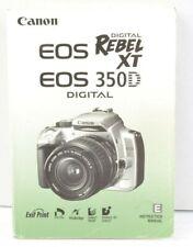 Canon EOS Rebel XT 350D Camera Instruction Manual User Guide English AC (353)