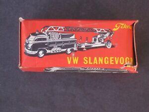 VINTAGE TEKNO (DENMARK) 1950s VW SLANGEVOGN FIRE TRUCK # 408 MINT ORIGINAL BOX