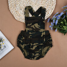 Toddler Kids Infant Baby Boy Girl Camo Romper Jumpsuit Bodysuit Clothes Outfits