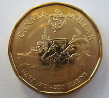 2010 ROYAL CANADIAN NAVY LOONIE BRILLIANT UNCIRCULATED COIN