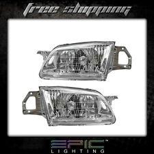 Fits 1999-00 Mazda Protege Headlight Headlamp Pair Left Right Set