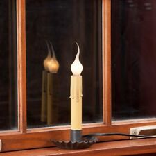Crimped Window Sill Accent Lights in Blackened Tin