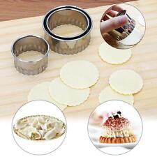 3pcs Stainless Steel Dumpling Mold Dough Press Cutter Pastry Maker Kitchen Tool
