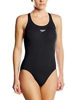 Speedo Womens Essential Endurance  Medalist Swimsuit Swimsuit, Black, 16 38 UK E