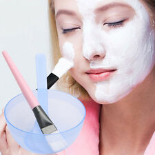 Homemade Makeup Beauty DIY Facial Face Mask Bowl Brush Spoon Stick Tool Set New