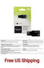 Sony MicroVault USM16GM/W 16GB Flash Drive - USB 2.0, Slim, LED, Works Mac & PC