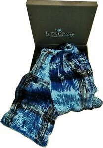 Tartan Silk Velvet Collection Scarf by Ladycrow Scotland - Royal Mid Blue