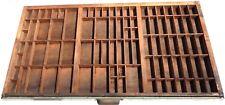 "Vintage HAMILTON Printers Type Set Cabinet Drawer Tray Wood 32"" x 16 3/4 x 1.5"""
