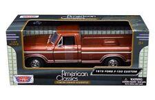 Motor Max 1:24 American Classics 1979 Ford F-150 Custom Diecast Car 79346 Brown