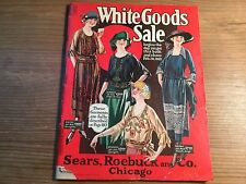 Vtg/Original 1922 Sears, Roebuck and Co. WHITE GOODS SALE-Catalog-Chicago