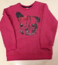 Esprit Sweatshirt Gr. 104/110 4-5 Jahre pink mit Hundemotiv super süß w. Neu!