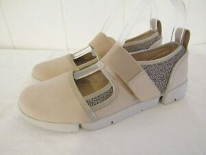 BNWOB CLARKS TRIGENIC Pale Pink Beige nude comfort trainers uk 5 D immaculate