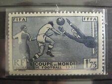 timbres français : coupe du mon de football YT n° 396 *   1938