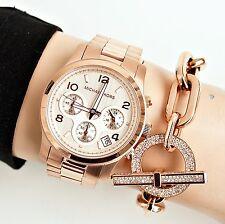 Original Michael Kors Uhr Damenuhr MK5128 RUNWAY  Farbe:Rose Gold  NEU