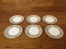 "6 Wedgwood GOLD COLUMBIA (Sage Green) 6"" Bread Plates - Excellent"
