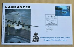 LANCASTER BOMBER 'ROY CHADWICK' 1997 COVER SIGNED BY PAT SHIRLEY 617 SQUADRON
