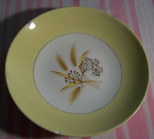 2 Homer Laughlin  Century Service Autumn Gold Yellow Band Wheat Soup Bowls