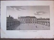GRAVURE 1839 PARIS HOTEL DE SOUBISE  VUE INTÉRIEURE