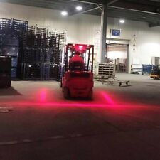 2 Pcs LED Forklift Truck RED Line Warning Lamp 30W Safety Working Light 10-80V