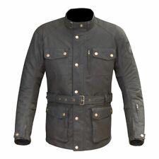Merlin Atlow Wax Jacket Black Waterproof Waxed Cotton Motorcycle Jacket NEW