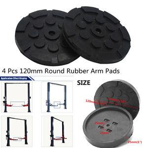 Universal 4 Pcs Black Rubber Round Shape Thick & Durable Arm Pads For Car Lift