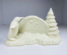 "�� Snowbabies Figurine ""Polar Sign� Penguin � Ice 🧊 Christmas Tree 🎄"
