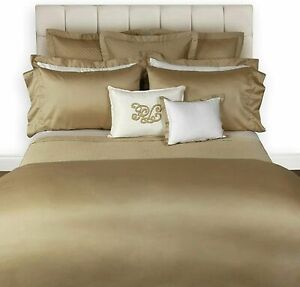 Ralph Lauren 624 Solid Sateen Cal. King Fitted Sheet  $185 Polished Bronze