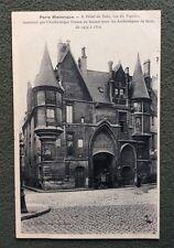 CPA. PARIS HISTORIQUE. 9. Hôtel de Sens. Rue du Figuier. Verrerie Haroux.