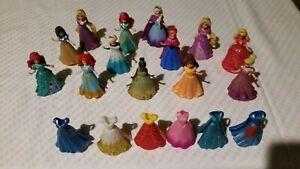 Disney Princess MagiClip Figures Lot Removable Dress 13 Dolls Toys Magic Clip