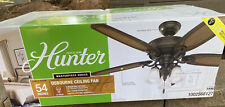 """Hunter Osbourne 54"""" LED Indoor Ceiling Fan with 3 Frosted Glass Shades NEW!!!"""