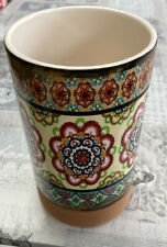 Multi Coloured Patterned Ceramic Vase