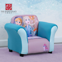 Disney Frozen Kids Upholstered Chair with Sculpted Plastic Frame by Delta Child