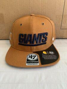 New York Giants NFL '47 Brand Carhartt Mens Brown Captain Strapback Hat New