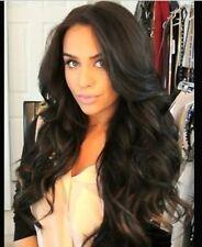 Natural Wave Peruvian Hair Glueless Dark Brown Lace Front Wig