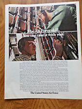 1972 Air Force Recruiting Ad The Air Force Skill You can Take it With You