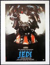STAR WARS RETURN OF THE JEDI 1983 POLISH FILM MOVIE POSTER PAGE. DARTH VADER E10