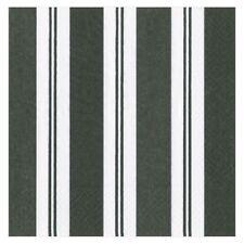 Caspari Paper Luncheon Napkins, Awning Stripe Black, 2 Packs (13871L)