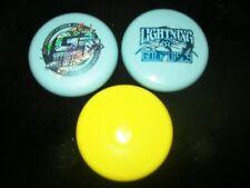 "new 4"" mini disc golf lot ! Lightning, Gggt, three marker set: blue & yellow"